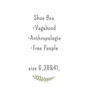 Shoe box, vagabond , free people , Anthro